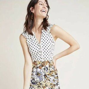 Anthropologie Chalmers Polka Dot Cami Top XL